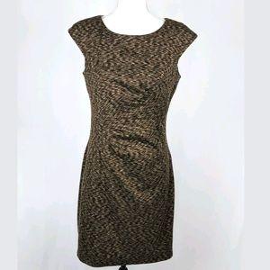 Calvin Klein Sleeveless Ruch Stretch Sheath Dress